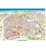 Placemat - Old CIty Drawing